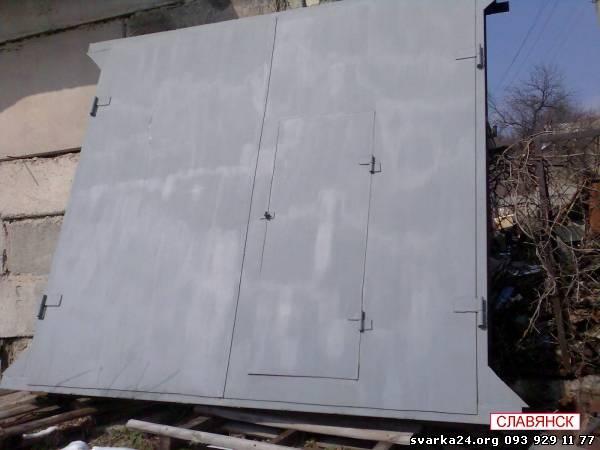 где купить гаражные металлические ворота бу в самаре